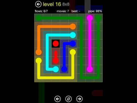Flow Free 8x8 Levels 11-20 Solutions (Regular Pack)