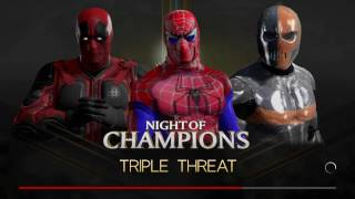 Wwe 2k17 spider-man vs deadpool vs deathstroke in a triple threat match