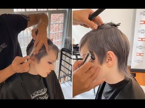 creative-short-women's-haircut-tutorial---short-layered-haircuts-tutorial