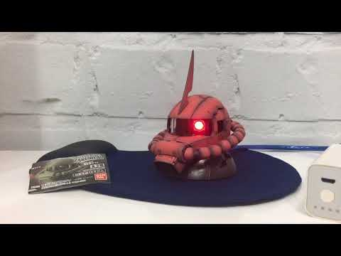 Custom Bandai Exceed Model Zaku Head with Touch sensor(Part 1/2)