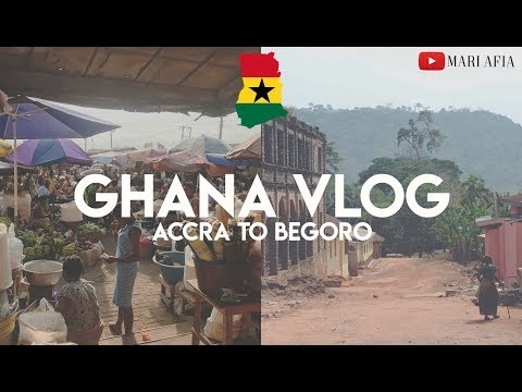 GHANA VLOG | STYLING NATURAL HAIR IN GHANA | ACCRA TO BEGORO