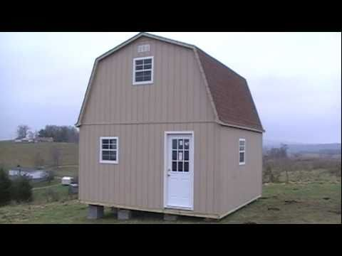 2 story barn cabin shed youtube for 2 story barn plans