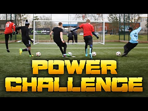 Thumbnail: FOOTBALL POWER CHALLENGE - How Hard Can You Kick A Football?