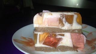 Битое стекло. Легкий йогуртный тортик. #легкий десерт