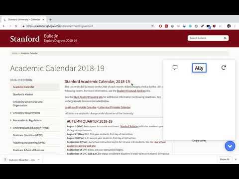 Autumn/Winter/Spring Quarter Academic Calendar Downloader