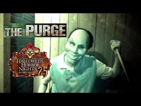 The Purge Haunted House Maze Walk Through Halloween Horror Nights Universal Orlando HHN 25 2015
