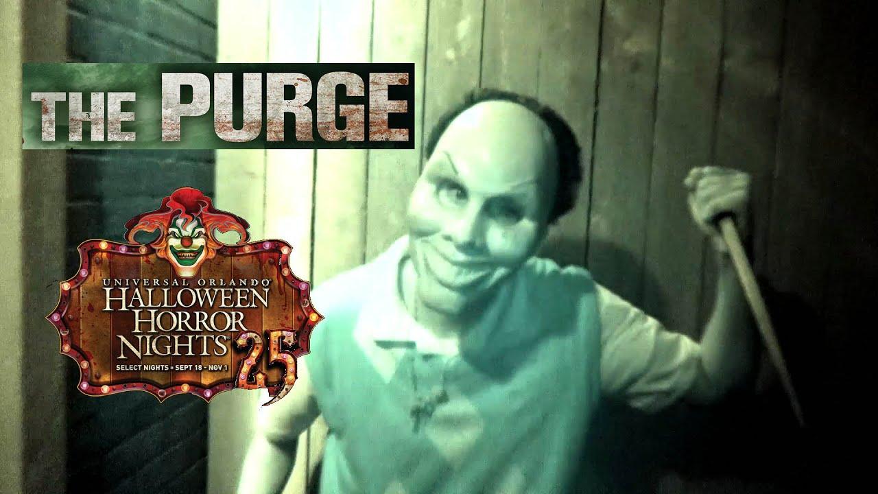 the purge haunted house maze walk through halloween horror nights universal orlando hhn 25 2015 youtube - Halloween Horror Night Theme