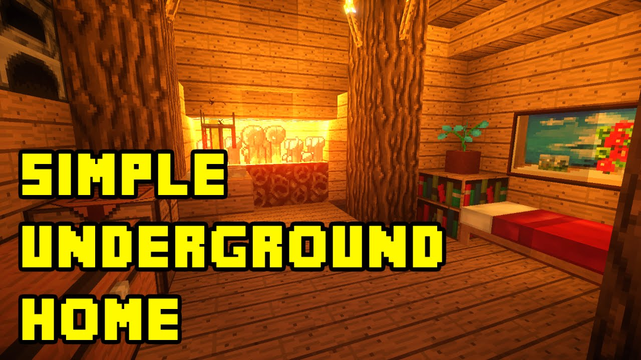 Simple Underground Home Interior. Minecraft Simple Underground House Base Tutorial Xbox PC PE PS3 Ideas