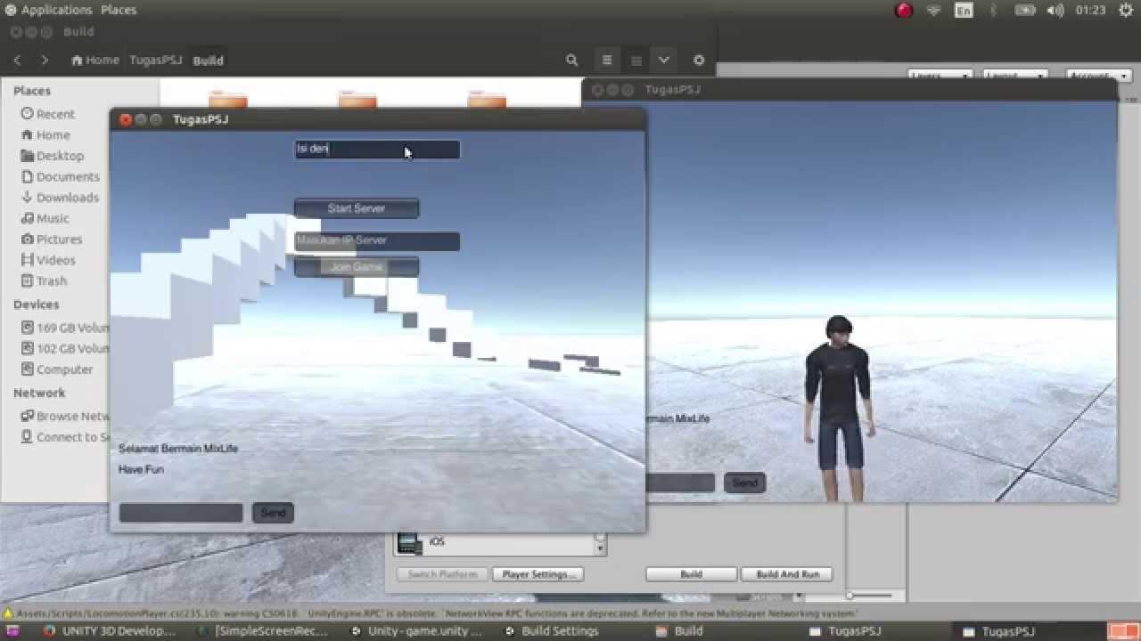 Unity3D 5 1 0p3 Linux Experimental Release - Build Test