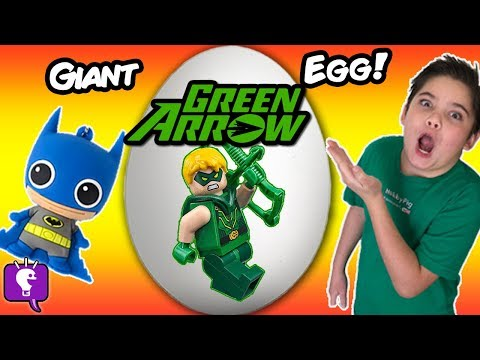 Giant GREEN ARROW Surprise Toy Egg with HobbyKids