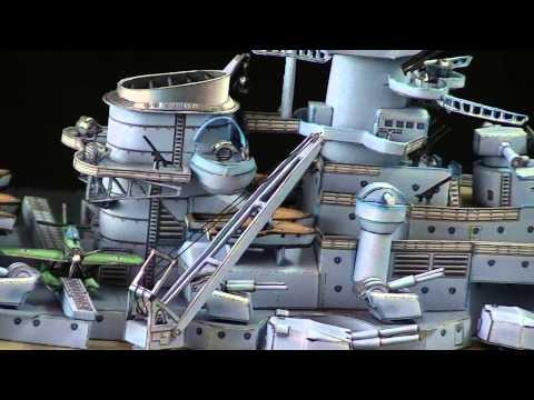 Papercraft 1/400 Bismarck Papermodel