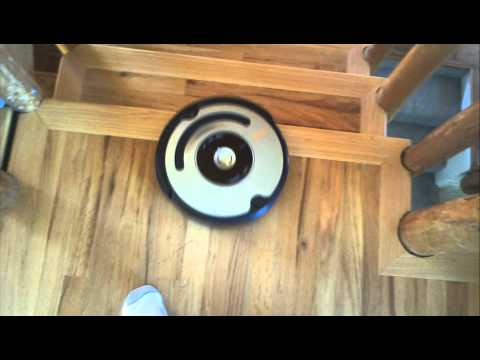 Roomba stair detect in action
