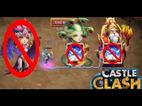 Castle Clash: Archdemon | NO REVITE 5 Medusa Or Warlock | NO Harpy Queen {F2P}