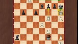 Последняя позиция матча Карякин - Карлсен (жертва ферзя)