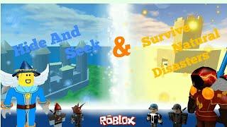 Roblox - hide and seek / survival natural disaster