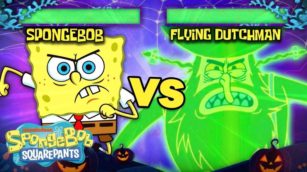 The Flying Dutchman Joins the Battle Arcade Arena! 👻🥊 SpongeBob SquareOff
