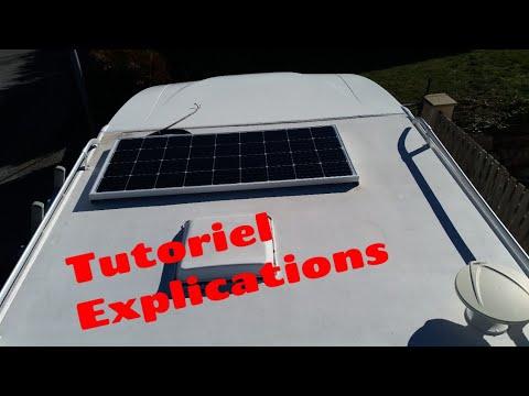 comment installer un panneau solaire sur un camping car youtube. Black Bedroom Furniture Sets. Home Design Ideas