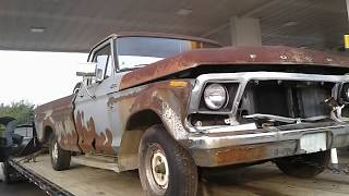 1978 Ford F100 First Start in 15 Years
