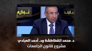 د. محمد القطاطشة ود. أحمد العبادي - مشروع قانون الجامعات