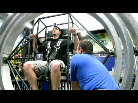 Astronaut Training Experience: three sea monkeys in a Multi-Axis Trainer