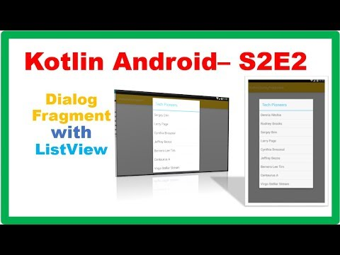 Android Fragment → Kotlin Android DialogFragment with