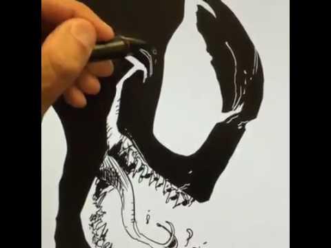 LIVE Drawing Of Venom YouTube