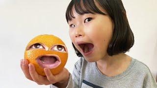 What if Orange is alive? When you drink Magic juice, turns orange! 라임파파가 마법 주스를 마시고 오렌지로 변했어요
