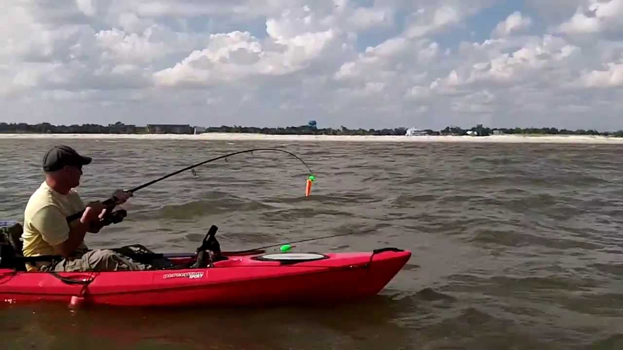 kayak fishing biloxi ms the meatpole youtube