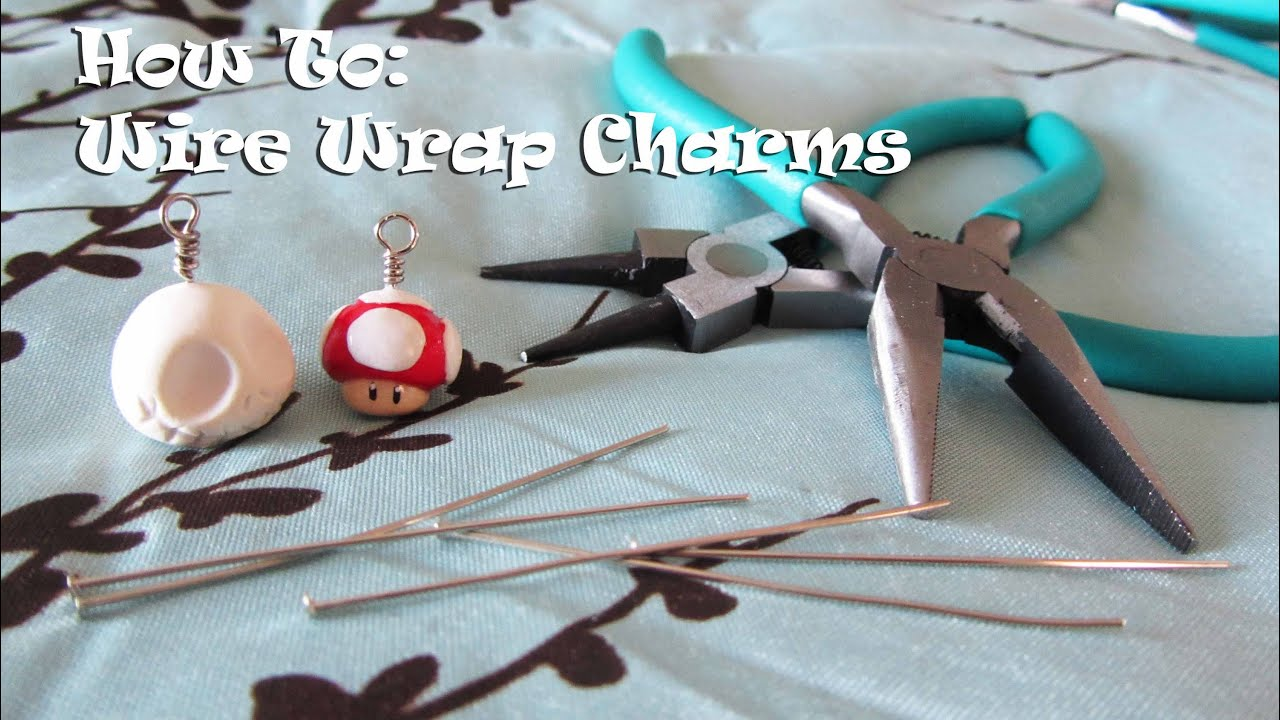 How To: Wire Wrap Charms (with head pins) - YouTube