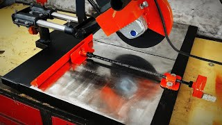 Making sliding angle grinder stand