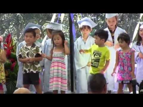 """St. Marianne Cope Preschool grads and toddlers sing """"Dinosaur Pet"""""""
