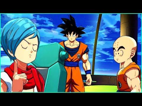Goku , Krillin and Bulma on a Journey - Dragon Ball Fighterz Game  