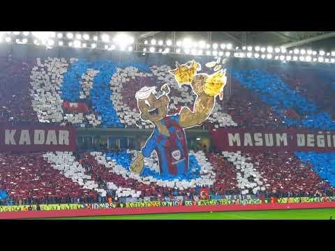 #Trabzonspor - şikebahçe maç öncesi koreografi 👍