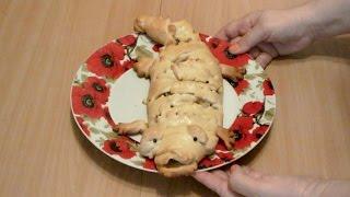 Вкусный дрожжевой пирог с рыбой и рисом крокодил рыбный пирог