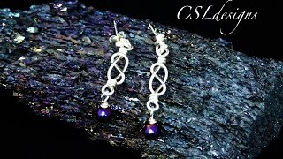 Download Video Celtic knot wirework drop earrings MP3 3GP MP4