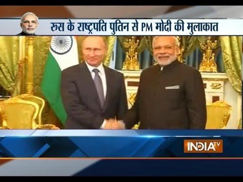 PM Modi's Russia Visit: Narendra Modi Meets President Vladimir Putin