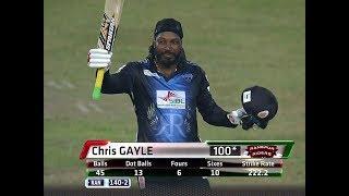 chris gayle 51 balls 126in BPl 2017