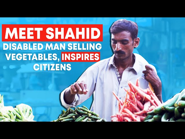 This Disabled Man Selling Vegetables, Inspires Citizens