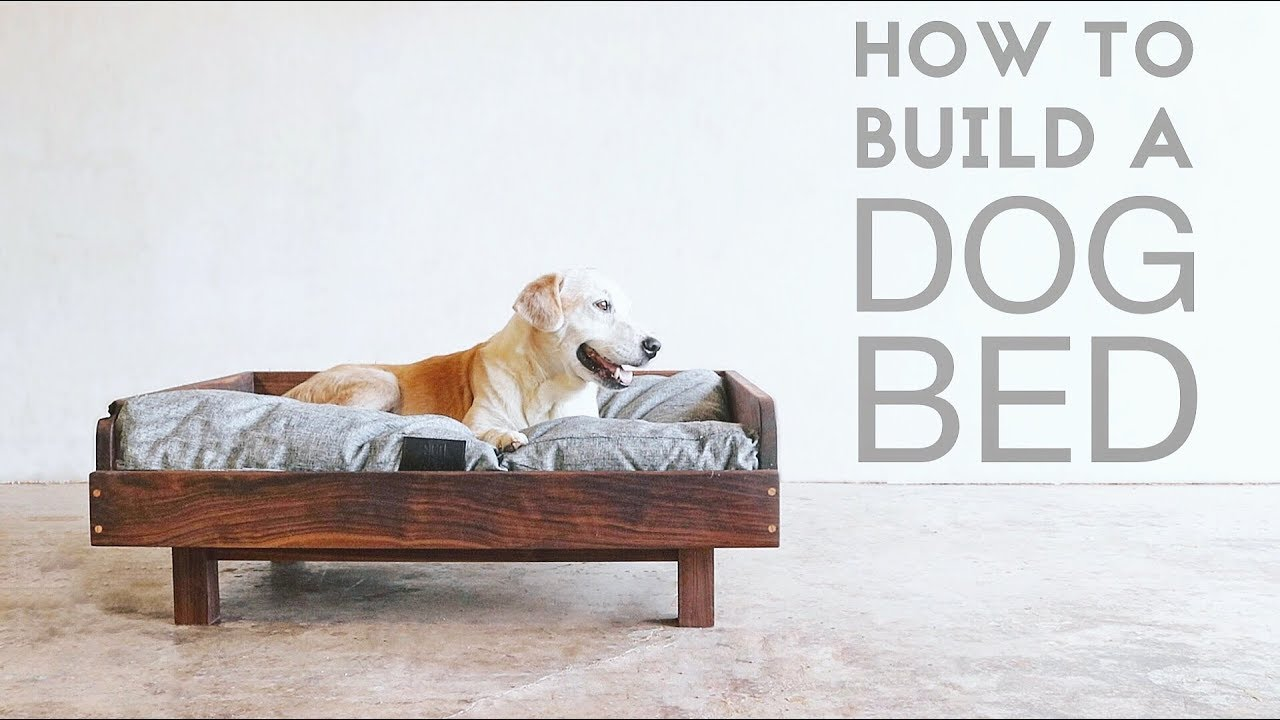 How to build a mid century modern dog bed modern builds for Build a dog bed