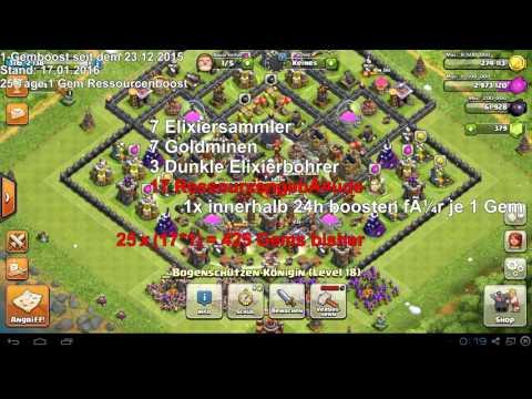 WAHRE KOSTEN FÜR 1 GEM BOOST    Clash of Clans   Deutsch   German