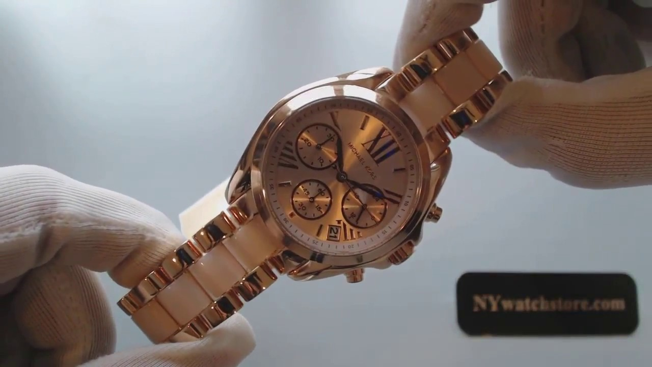 aa64c77ce78d Women s Michael Kors Mini Bradshaw Chronograph Watch MK6066 - YouTube