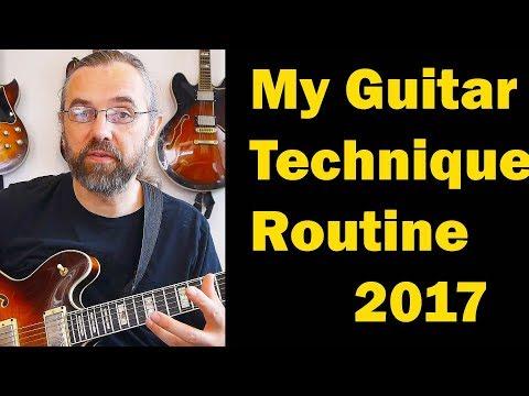 My Guitar Practice Routine  2017 - Technique: Open Triads, Quartal Arpeggios - Jazz Guitar Vlog