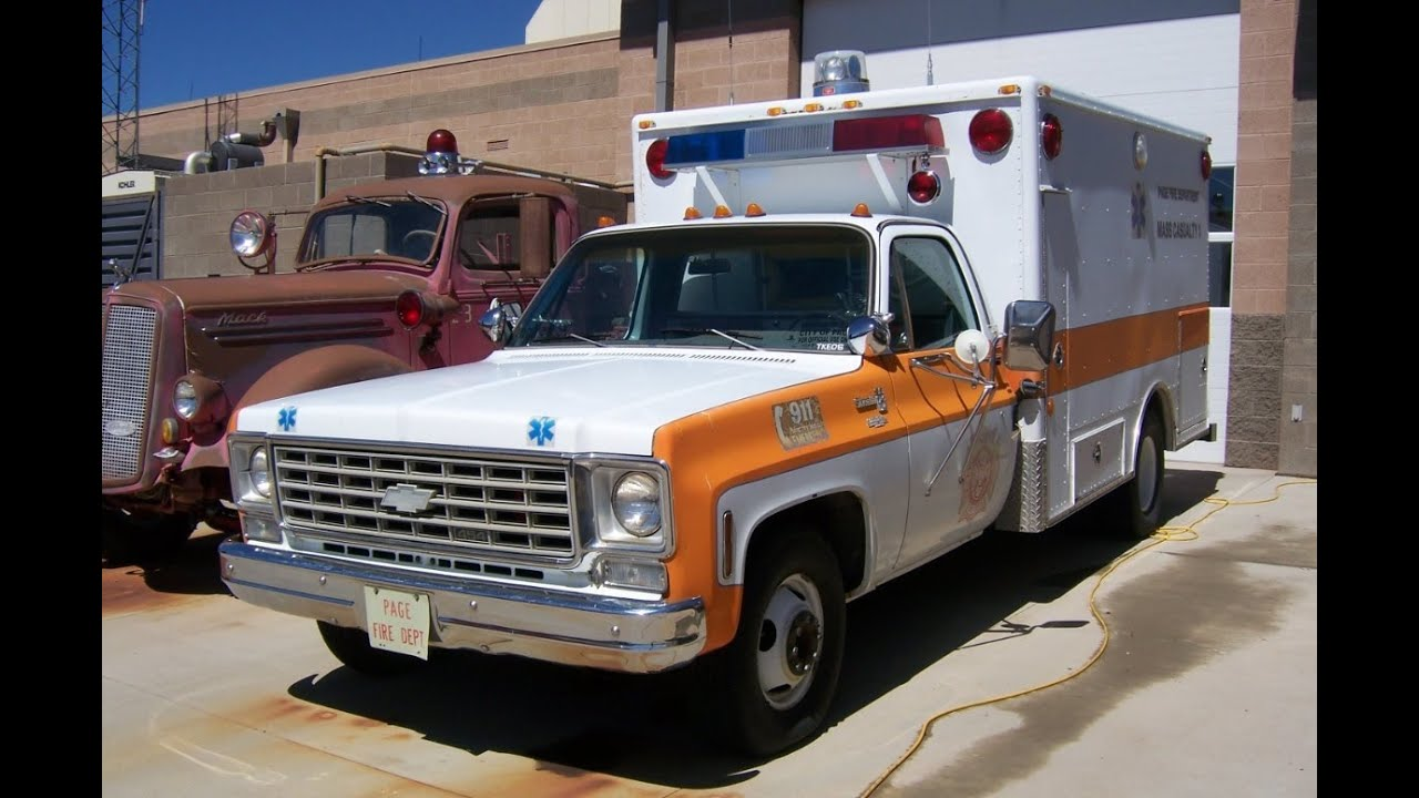 Page FD old Chevy ambulance Mass Casualty 1 [AZ | 7/2011]