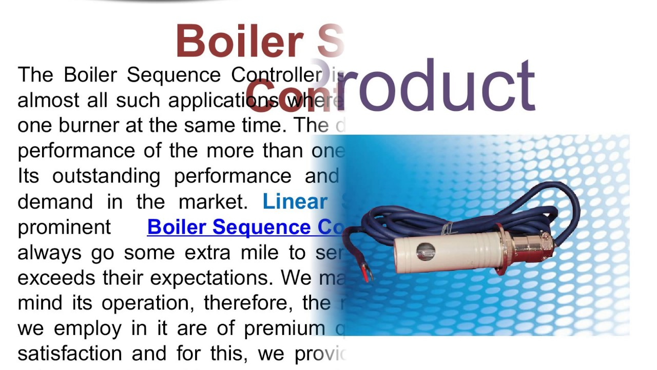 Boiler Sequence Controller Manufacturers - YouTube