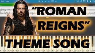 Wwe | Roman Reigns | Theme | Song | Easy | Piano | Tutorial | Staff | Notations |