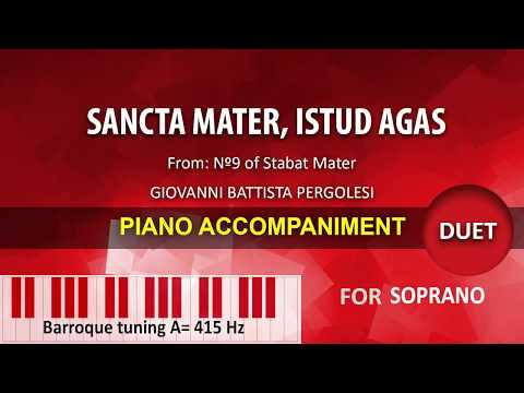 Sancta Mater, istud agas (duet): Karaoke piano for Soprano A=415