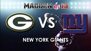 Madden 13: Green Bay Packers vs. New York Giants