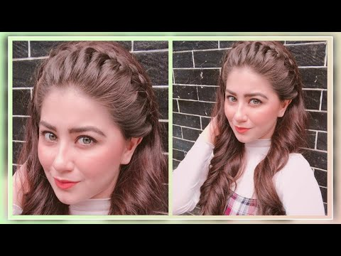 aditi-bhatiya's-hairstyles-||-front-braid-hairstyles-||-easy-hairstyles-for-teenager/college-girls