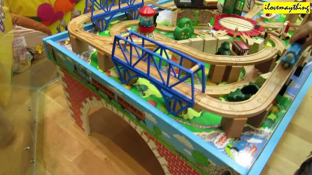 Family Toy Channel Thomas and Friends Table Play Set. Thomas Wooden Railway - YouTube : childrens wooden train set tables - pezcame.com