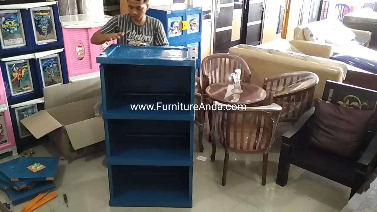 Diy Cara Merakit Lemari Plastik Club 4 Susun Cwbs4 3 Miniclub Cabinet Plasti
